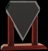 Royal Marquis Diamond Clear Glass Award Achievement Awards
