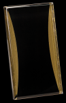 Black/Gold Standing Reflection Acrylic Award Recognition Plaque Investment Acrylic Awards